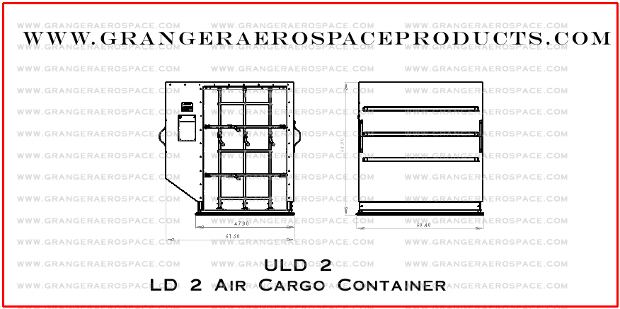 Granger Aerospace LD2, LD2 Dimensions, Granger Aerospace Products LD 2, LD 2 Container, Air Cargo Container